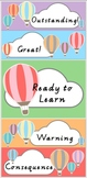 Hot Air Balloon Themed Behaviour Chart