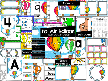 Hot Air Balloon Theme Decor {Expansion Pack}