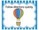 Hot Air Balloon Classroom Theme | Hot Air Balloon Classroom Decor | Class Rules