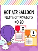 Hot Air Balloon Theme Number Posters