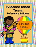 Hot Air Balloon Themed Evidence Based Terms Poster Set and Classroom Decor