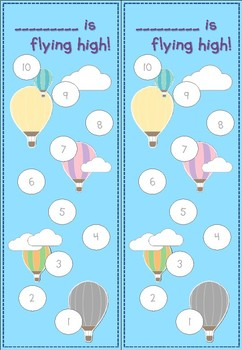 Hot Air Balloon Themed Sticker Chart