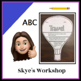 Hot Air Balloon Travel Questions Flip Book Writing Coloring English Fun