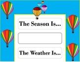 Hot Air Balloon Weather Chart! How Air Balloon Bulletin Board! Travel Theme!