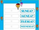 Hot Air Balloon Weekday Chart! Hot Air Balloon Bulletin Board! Air Balloon Theme
