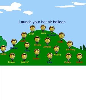 Hot Air Balloon and Jungle Smart Board Attendance