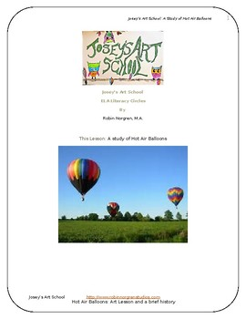 Hot Air Balloons: Art Drawing History Lesson ELA Literacy Circle Discussion