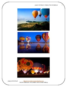 Hot Air Balloons: Art Drawing History Lesson ELA Literacy Circle Discussion