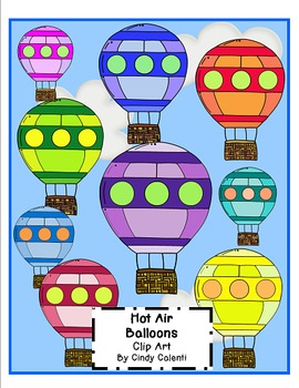 Hot Air Balloons: Clip Art