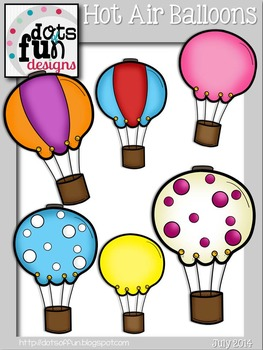 Hot Air Balloons ~Dots of Fun Designs