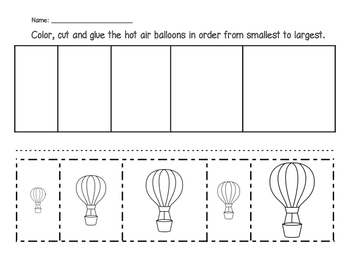 Hot Air Balloons - From Smallest to Largest