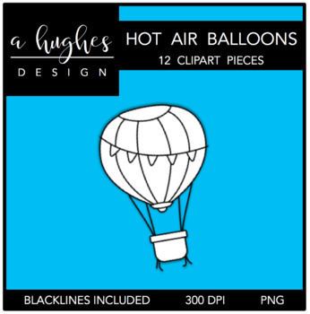 Hot Air Balloons Clipart {A Hughes Design}