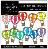 Hot Air Balloons Clipart {A Hughes Design}