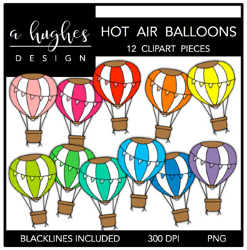 Hot Air Balloons {Graphics for Commercial Use}