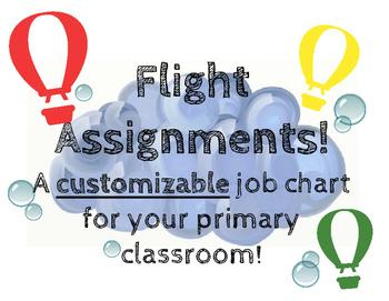 Hot Air Balloons Job Chart - Make yours custom!