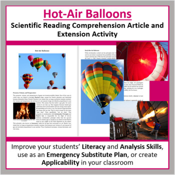 Hot-Air Balloons Reading Comprehension Article - Grade 8 and Up
