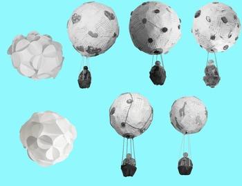 Hot Air Balloons Clipart Real Photo