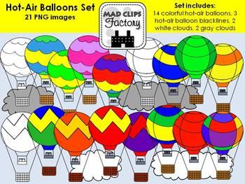 Hot-Air Balloons Set