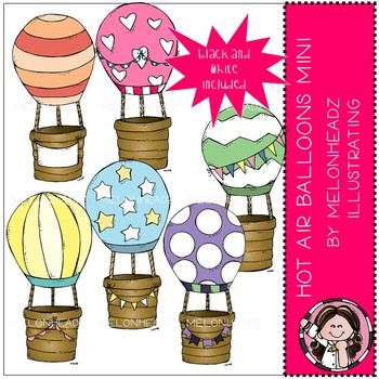Hot Air Balloons clip art - Mini - by Melonheadz