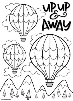 Balloon Coloring Pages Worksheets Teaching Resources Tpt