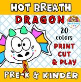 Hot Breath Dragon Paper Toy Craft Pre-K & Kindergarten