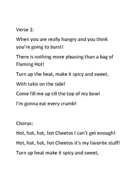 Hot Cheetos! Parody of Hot Chocolate by Andy Beck & Brian Fisher