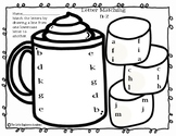 Hot Chocolate ABC Matching Printable Worksheet