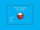 Hot Chocolate Activity pages - 1st, 2nd, 3rd grade - writing, math, word search