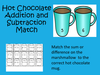 Hot Chocolate Addition and Subtraction Facts