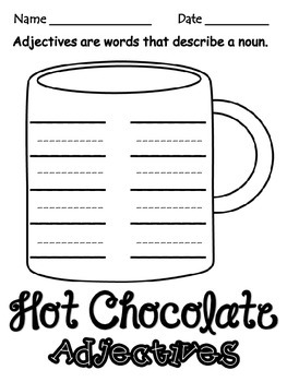 Hot Chocolate Adjectives