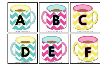 Hot Chocolate Alphabet Game