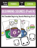 Hot Chocolate Beginning Sounds Phonics Matching A to Z