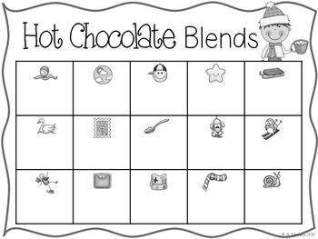 Hot Chocolate Blends {A Free Literacy Center}