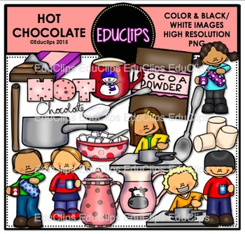 Hot Chocolate Clip Art Bundle {Educlips Clipart}