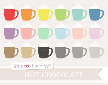 Hot Chocolate Clipart; Coffee, Cocoa, Latte