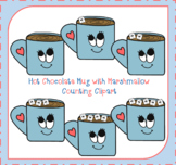 Hot Chocolate Clipart / Counting Clipart / 0-5 Clipart / Five Frame