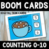 Hot Chocolate Counting 0-10  Boom Cards -  Winter Math Activity