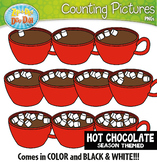 Hot Chocolate Counting Pictures Clipart {Zip-A-Dee-Doo-Dah Designs}