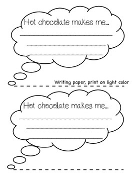 Hot Chocolate Craft (Freebie)