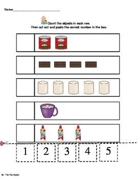 Hot Chocolate Cut & Paste Math