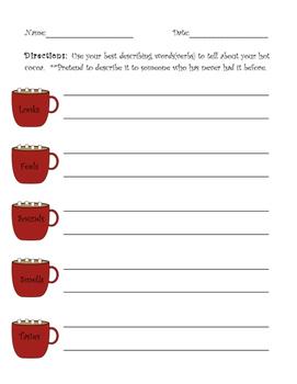 Hot Chocolate Descriptive Writing Activity