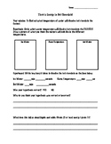 Hot Chocolate Experiment Observation sheet