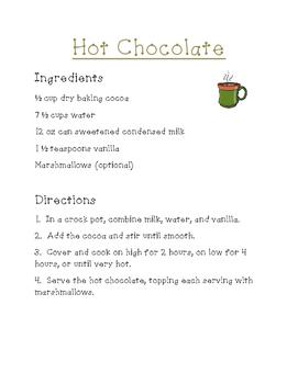 Hot Chocolate Fun