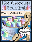 Hot Chocolate & Hot Cocoa Activities: Hot Chocolate Counting Math Activity - BW