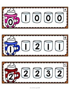 Hot Chocolate (Level 1) Numeral Search Cards