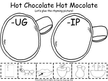 Hot Chocolate Literacy and Math Packet Prek and Kindergarten