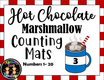 Hot Chocolate Marshmallow Play Dough Counting Mats (Numbers 1-20)