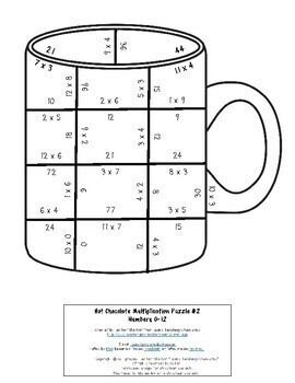 MULTIPLICATION Hot Chocolate Activities or Craft | FUN Polar Express Math Games