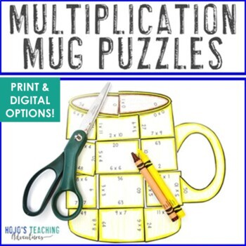 MULTIPLICATION Hot Chocolate Math Activities: Use for Polar Express Day or Unit