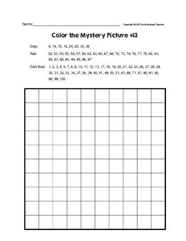 Hot Chocolate Mug Hundreds Chart Mystery Picture